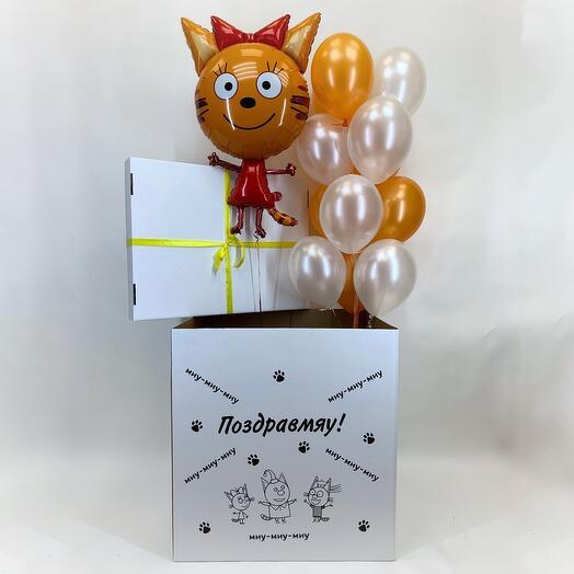 Коробка-сюрприз с шарами Миу-Миу