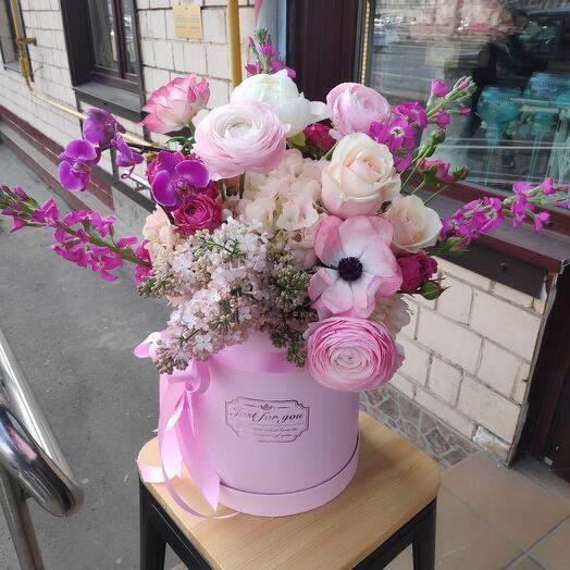Цветочная коробка утро в Париже