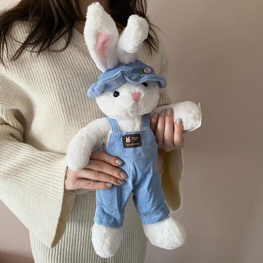 Белый кролик  35см
