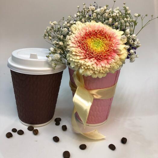 Кофе ☕️ и цветы 🌺