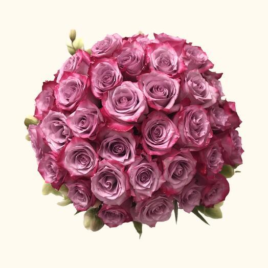 Букет из эквадорской розы Deep purple 60 см