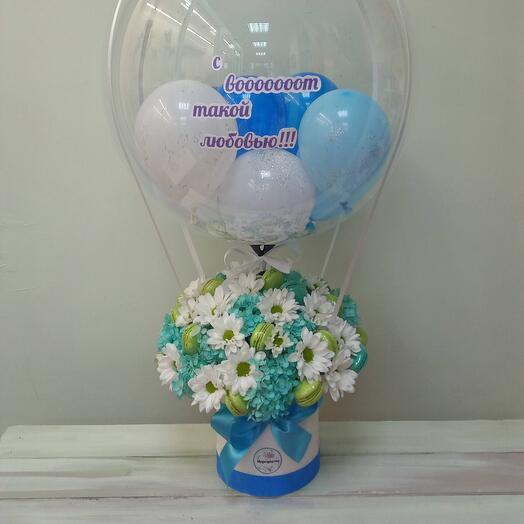 Цветы с большим шаром баблс
