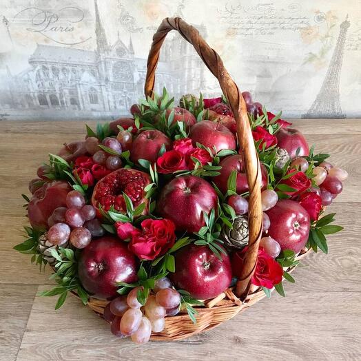 Корзина с фруктами Бордо для учителя
