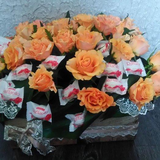 Коробочка Рафаэлло: букеты цветов на заказ Flowwow