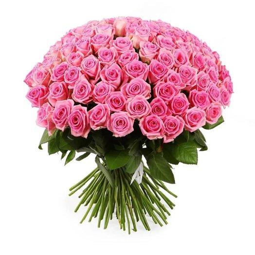 101 розовая элитная роза