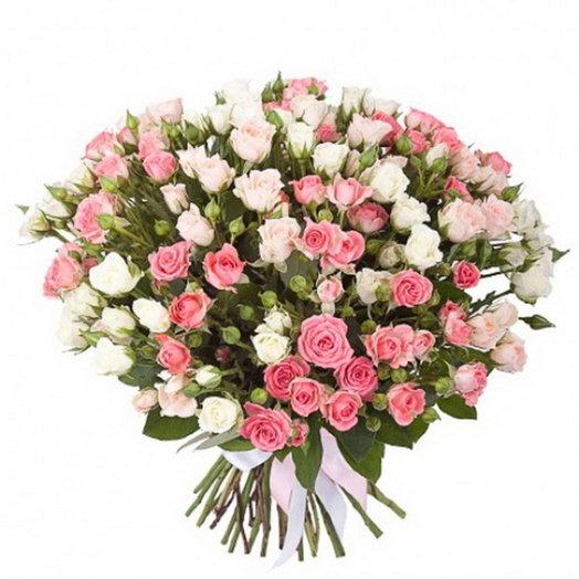 Букет «Дайкири» (39 кустовых роз): букеты цветов на заказ Flowwow