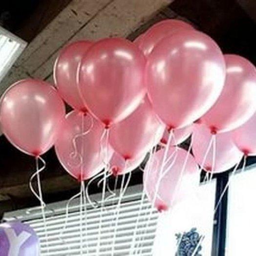15 красных (розовых) шаров: букеты цветов на заказ Flowwow