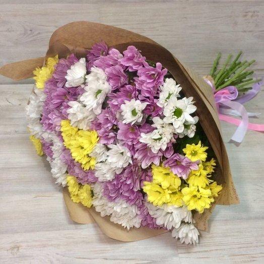 29 хризантем: букеты цветов на заказ Flowwow