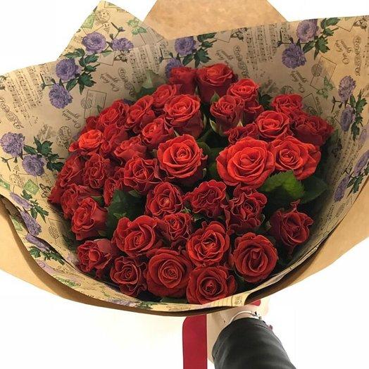 Розы огня для нее: букеты цветов на заказ Flowwow