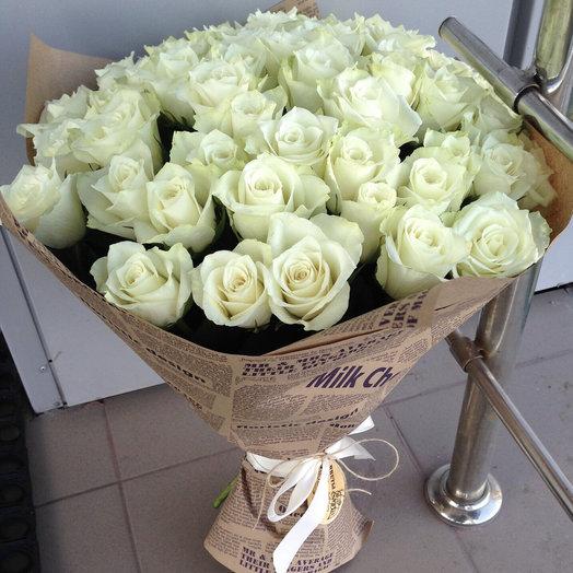 Букет из 51 розы по АКЦИИ: букеты цветов на заказ Flowwow