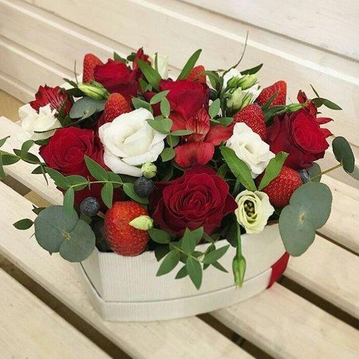 Волшебное сердце: букеты цветов на заказ Flowwow