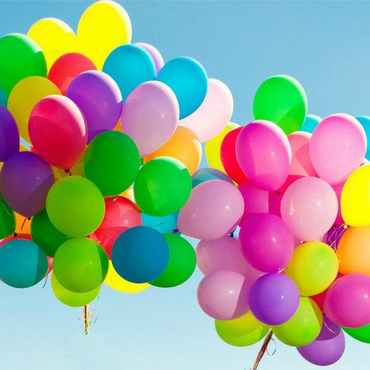 Облако 130 шаров разноцветных: букеты цветов на заказ Flowwow
