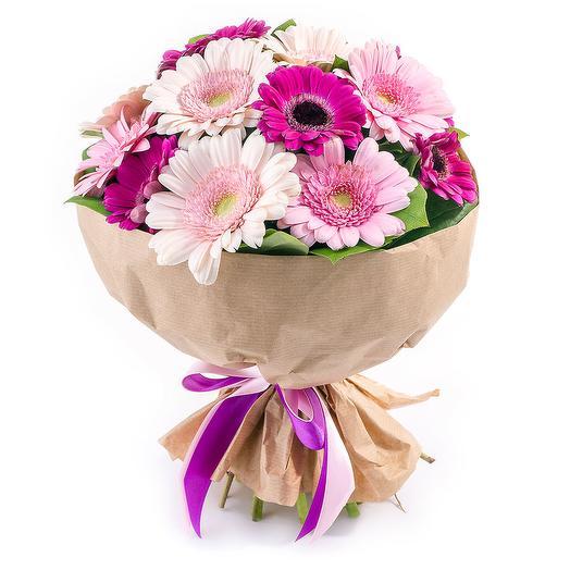 Букет из гербер в крафте: букеты цветов на заказ Flowwow