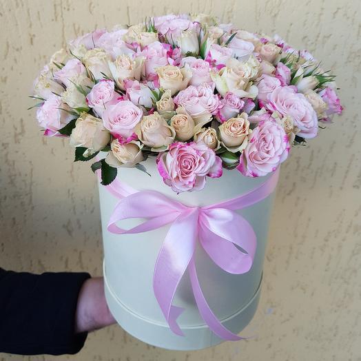 Коробка из кустовых роз. 19 кустовых роз: букеты цветов на заказ Flowwow