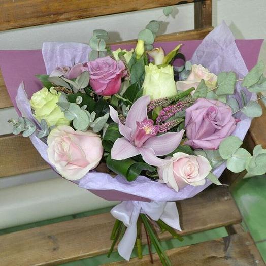 Букет в сиреневых тонах: букеты цветов на заказ Flowwow