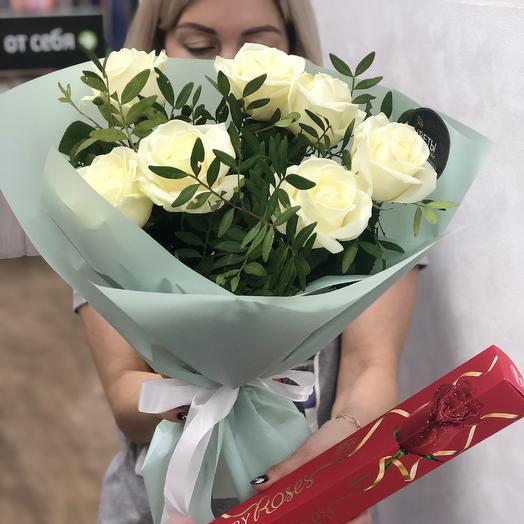 Весна.Комплект Розы с Конфетами: букеты цветов на заказ Flowwow