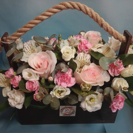 """Ящик с цветами """"Музыка души"""": букеты цветов на заказ Flowwow"""