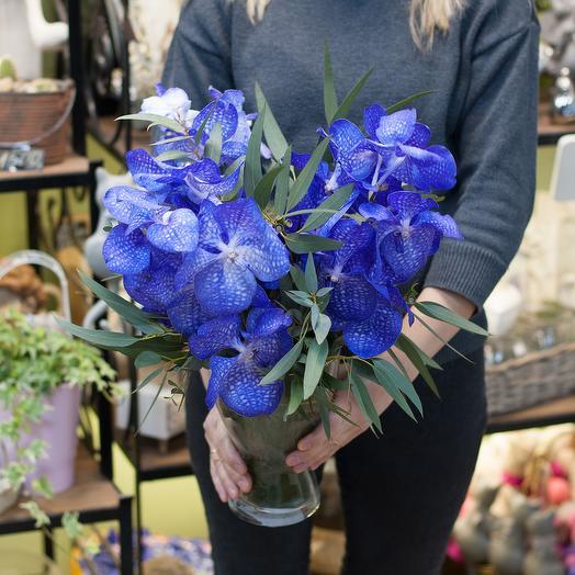 """Цветочная композиция """"Орхидея Ванда"""": букеты цветов на заказ Flowwow"""