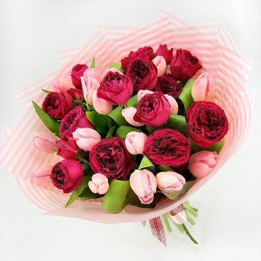 Ягодный десерт: букеты цветов на заказ Flowwow