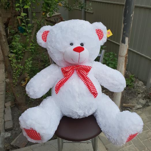 Большой медведь: букеты цветов на заказ Flowwow