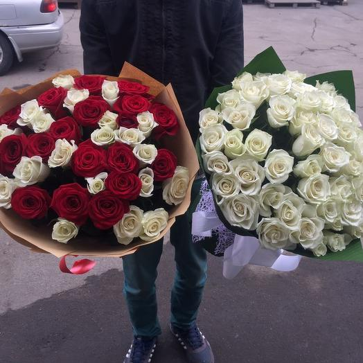 51 белая роза 60