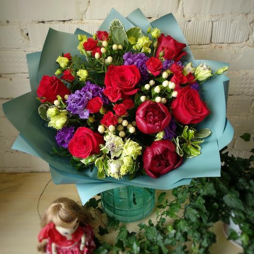 Превосходное бордо: букеты цветов на заказ Flowwow