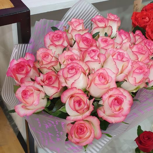 25 роз джумилия: букеты цветов на заказ Flowwow