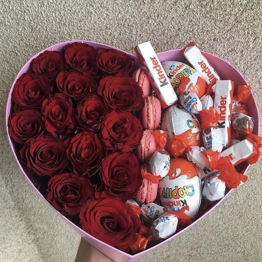 Цветы + сладости: букеты цветов на заказ Flowwow