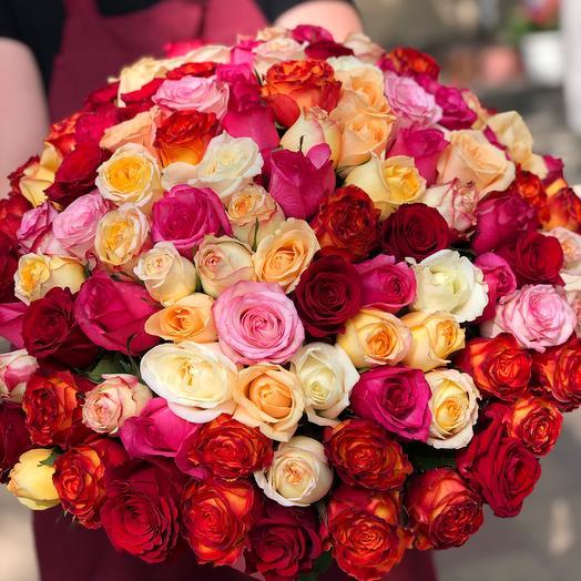 101 Роза 🥰: букеты цветов на заказ Flowwow