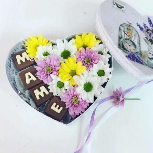 Сердце Маме: букеты цветов на заказ Flowwow