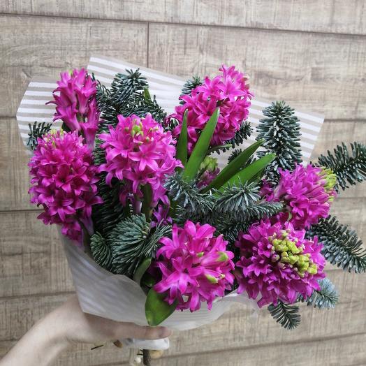 Гиацинты для солнечного настроения: букеты цветов на заказ Flowwow
