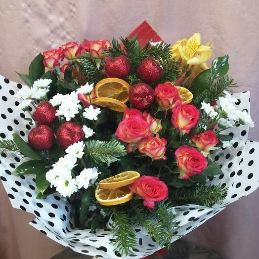 Зимнее ассорти: букеты цветов на заказ Flowwow