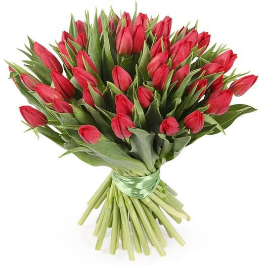 Тюльпан красный: букеты цветов на заказ Flowwow