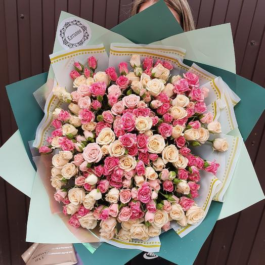 51 роза микс кустовая