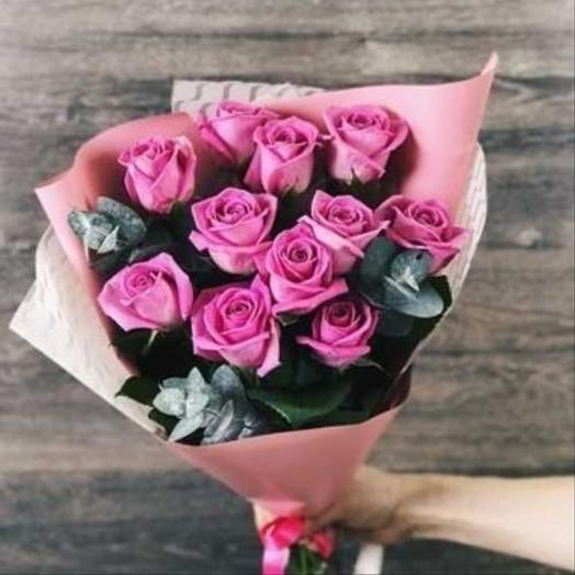 ✅ Букет 11 розовых роз Хит