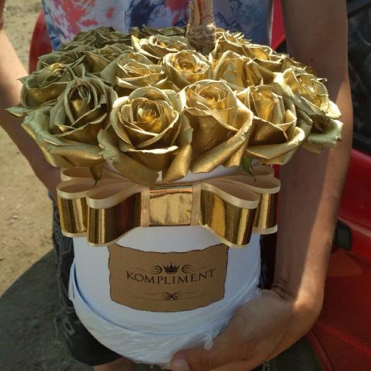 Букет Золотые розы