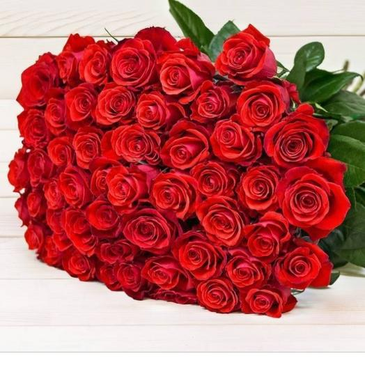 51шт красных роз