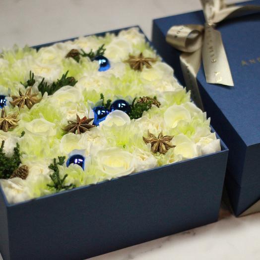 Цветы в коробке Bloom Box Blue