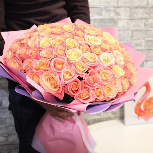 Букет из 101 розы - Мисс Пигги