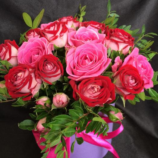 Цветы в коробке Милена 2