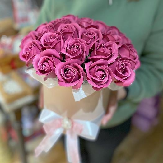 Композиция с мыльными розами 💓