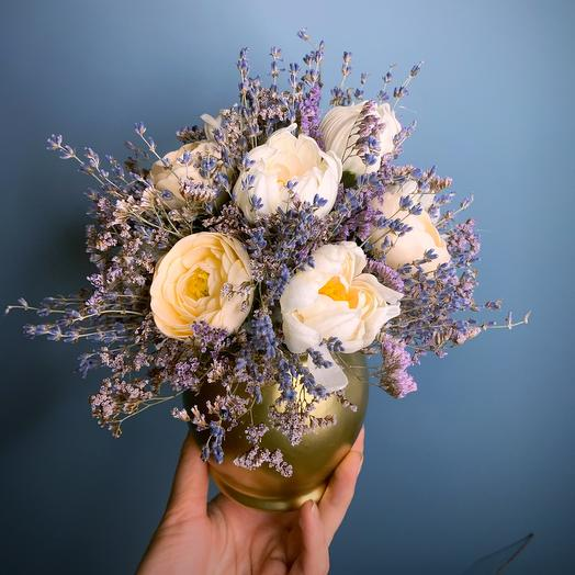 With lavender