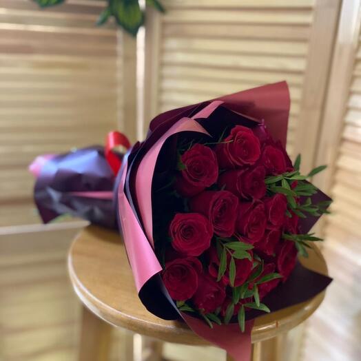 Роза бордо моно