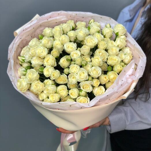 21 ветка кустовой Розы