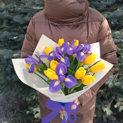 """Апрель""  тюльпаны и ирисы"