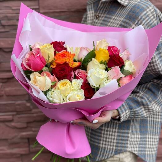 39 кенийских роз в оформлении