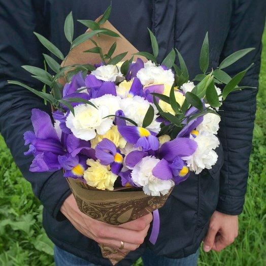 Ирисы в снегу: букеты цветов на заказ Flowwow