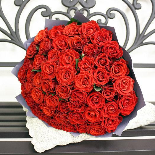 51 роза Эльторо 50 см: букеты цветов на заказ Flowwow