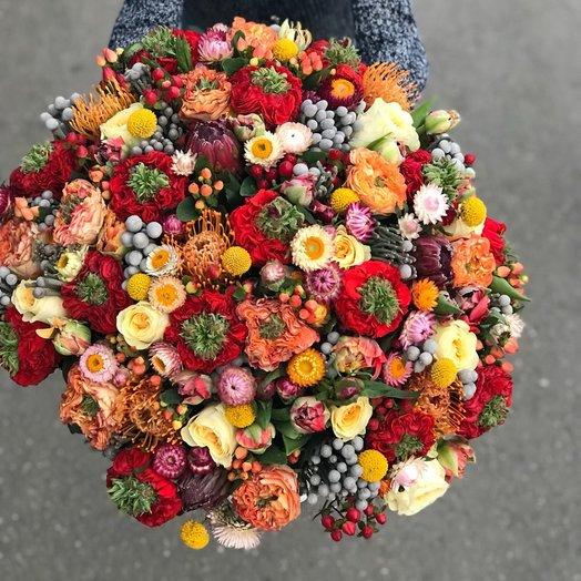 Букет из импортных и экзотических цветов