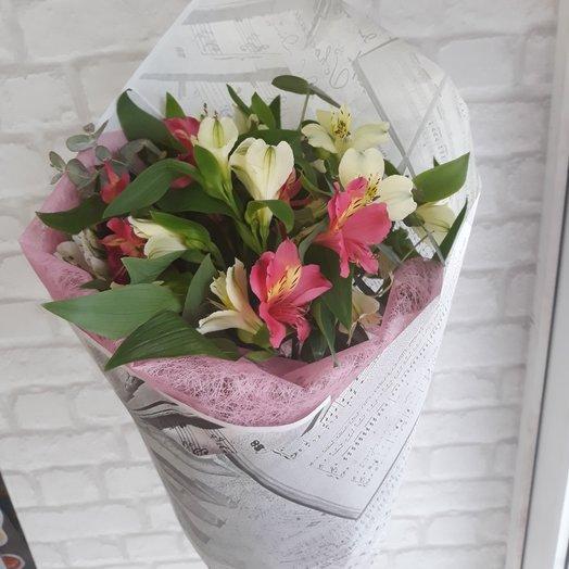 Букет из 15 альстромерий.: букеты цветов на заказ Flowwow